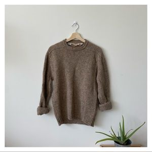 Vintage wool brown sweater